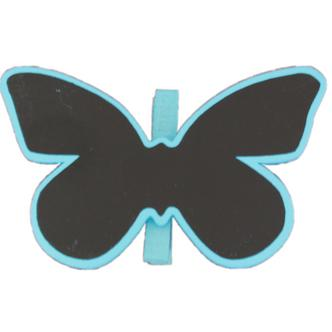 Blue Butterfly Shaped Blackboard Place Settings / Photo Line