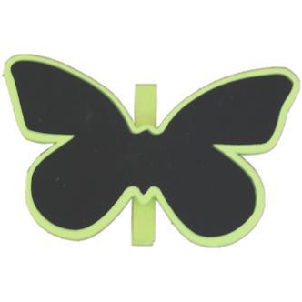 Green Butterfly Shaped Blackboard Place Settings / Photo Line