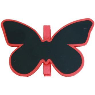 Red Butterfly Shaped Blackboard Place Settings / Photo Line