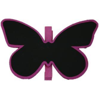 Purple Butterfly Shaped Blackboard Place Settings / Photo Line