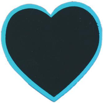 Blue Heart Shaped Blackboard Place Settings / Photo Line