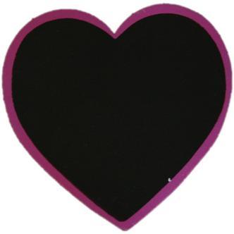 Purple Heart Shaped Blackboard Place Settings / Photo Line