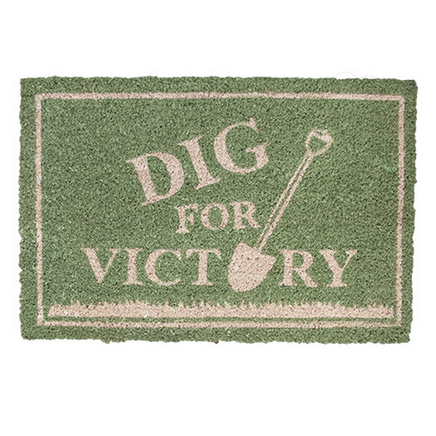 Dig for Victory on Green Background Garden Doormat