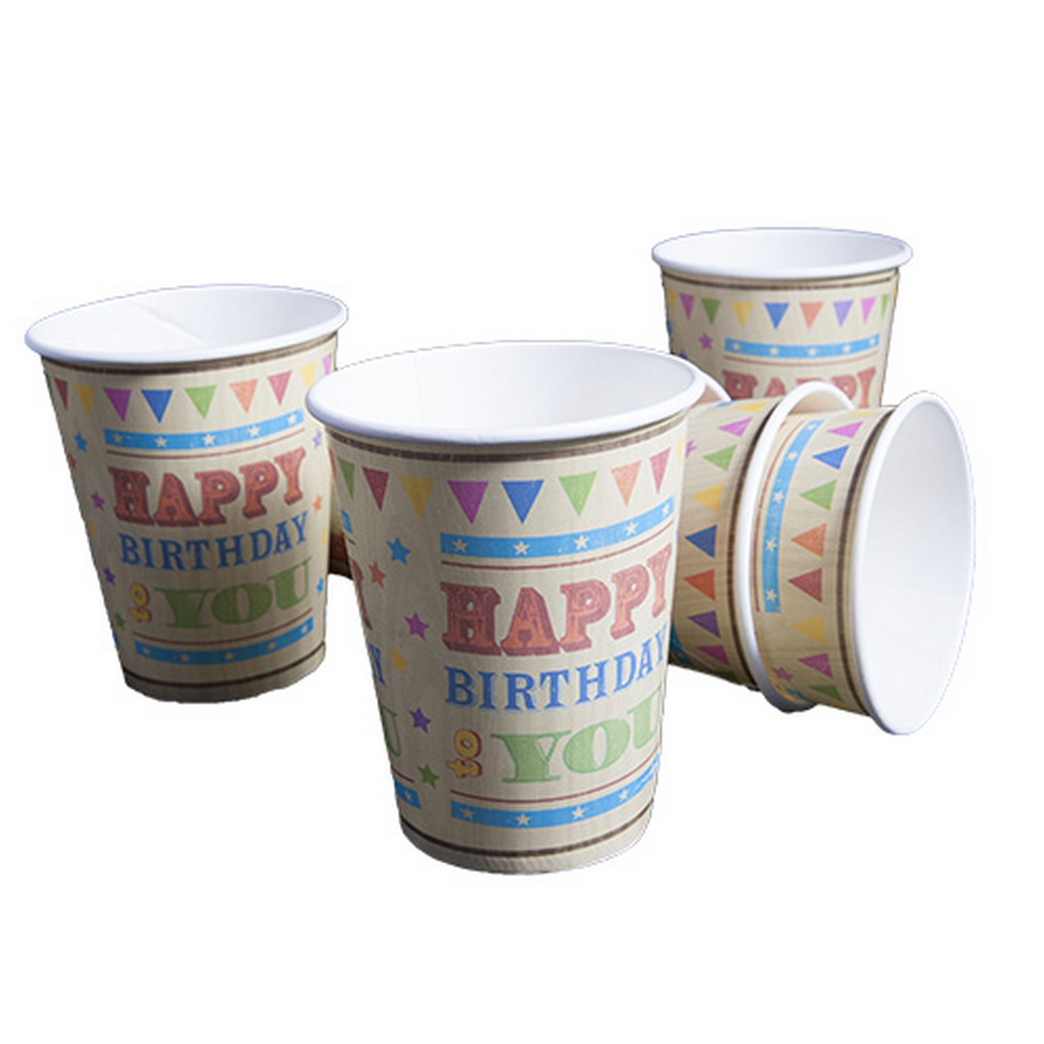 Circus Fun Happy Birthday Celebration Paper Cups x12