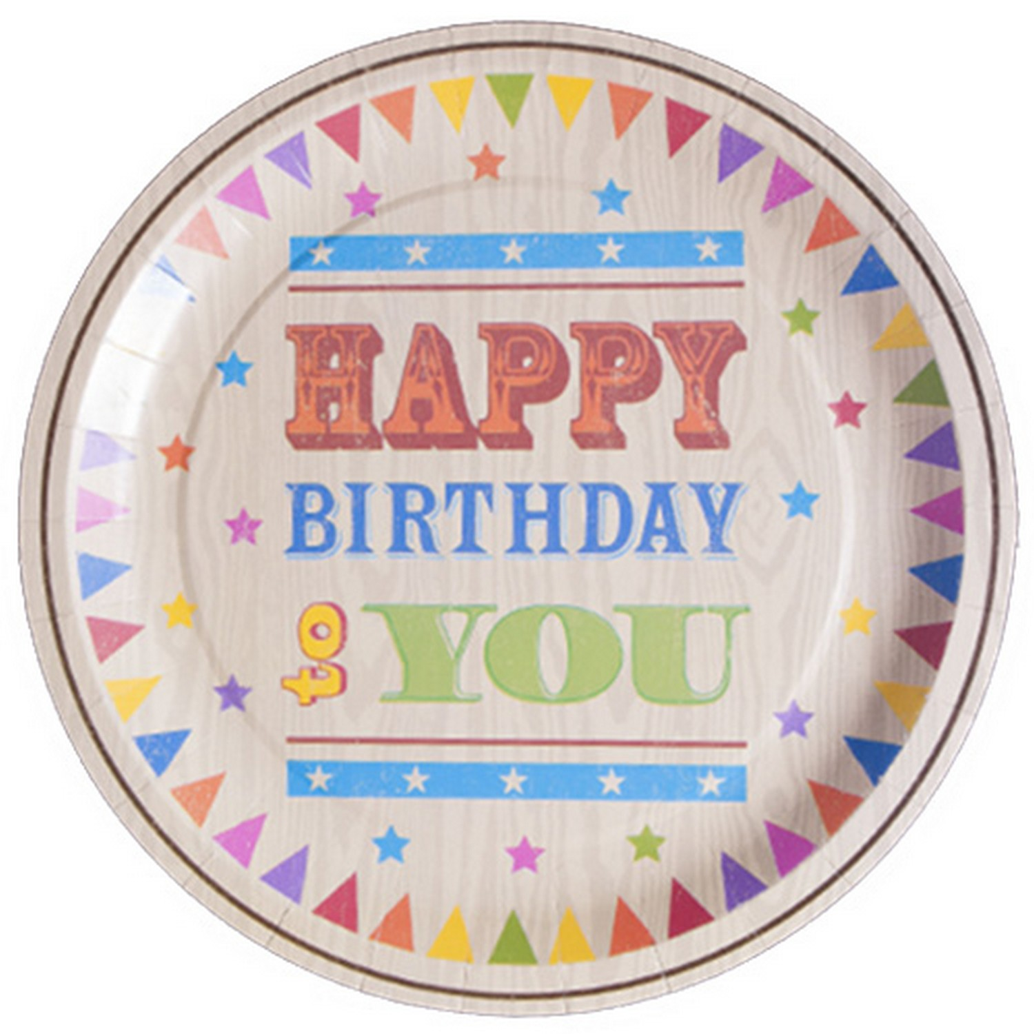 Returning To Letter From Here Like >> Circus Fun Happy Birthday Celebration Paper Plates x 6 | blendboutique