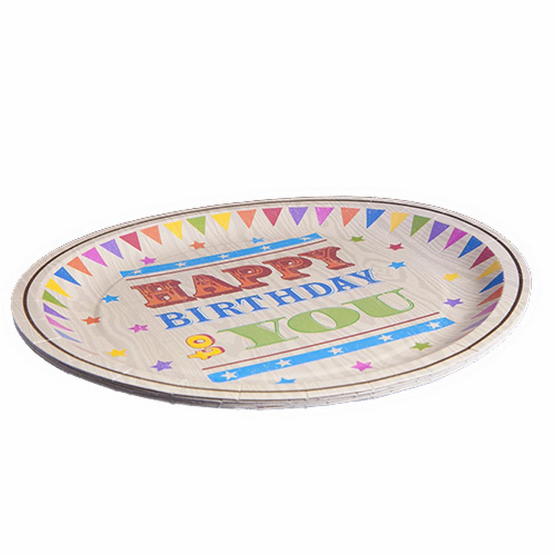 Circus Fun Happy Birthday Celebration Paper Plates x 6  sc 1 st  Blend Boutique & Circus Fun Happy Birthday Celebration Paper Plates x 6 | blendboutique