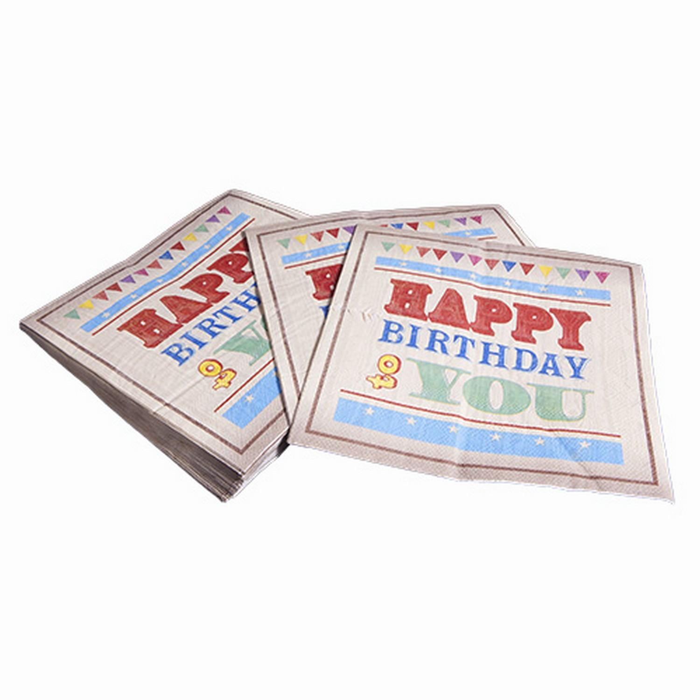 Circus Fun Happy Birthday Celebration Paper Napkins x20