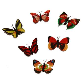 6x Colourful Butterfly Fridge Magnets - STRONGEST NEODYMIUM MAGNETS
