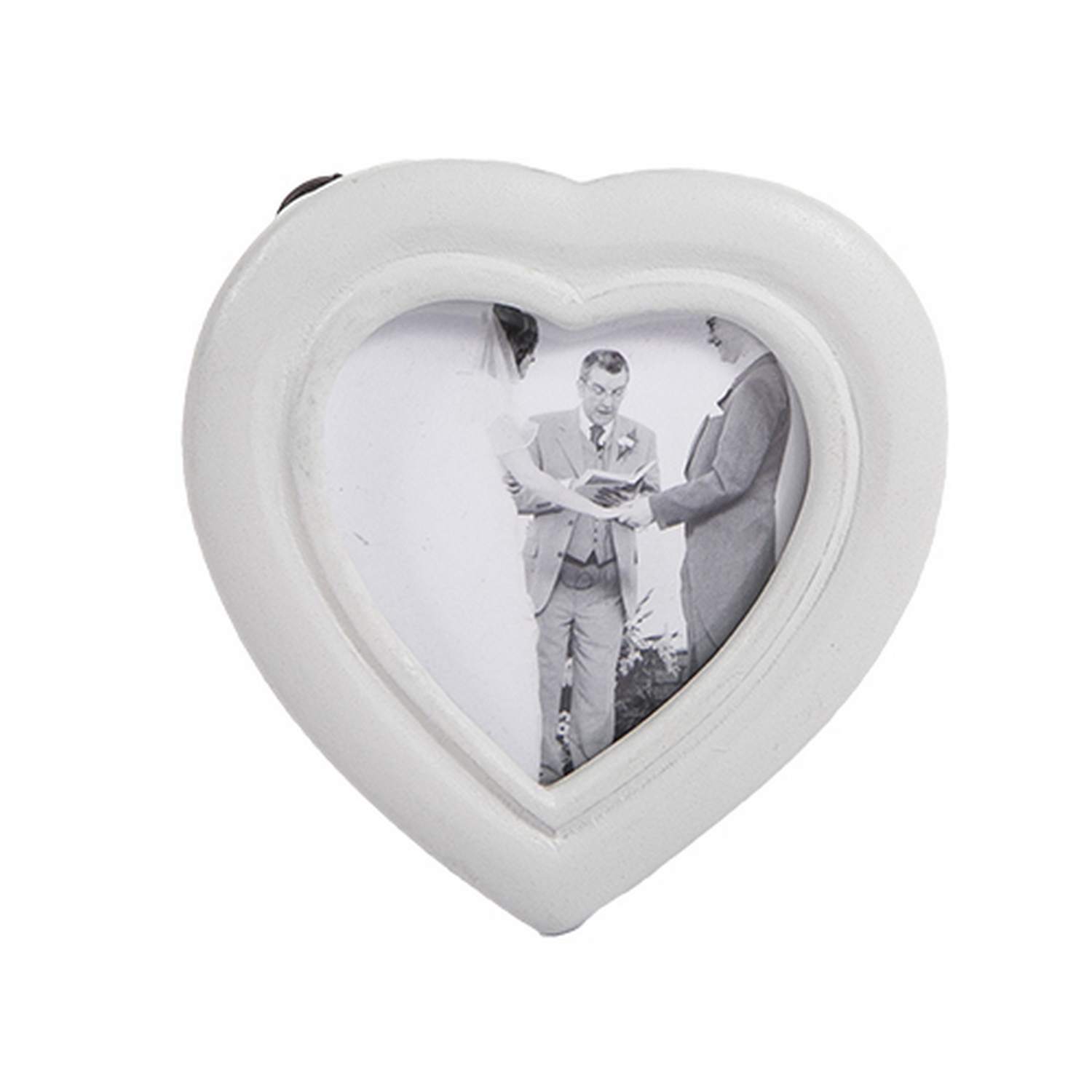 4x Light Tonal Heart Shaped Photo Holder Napkin Ring