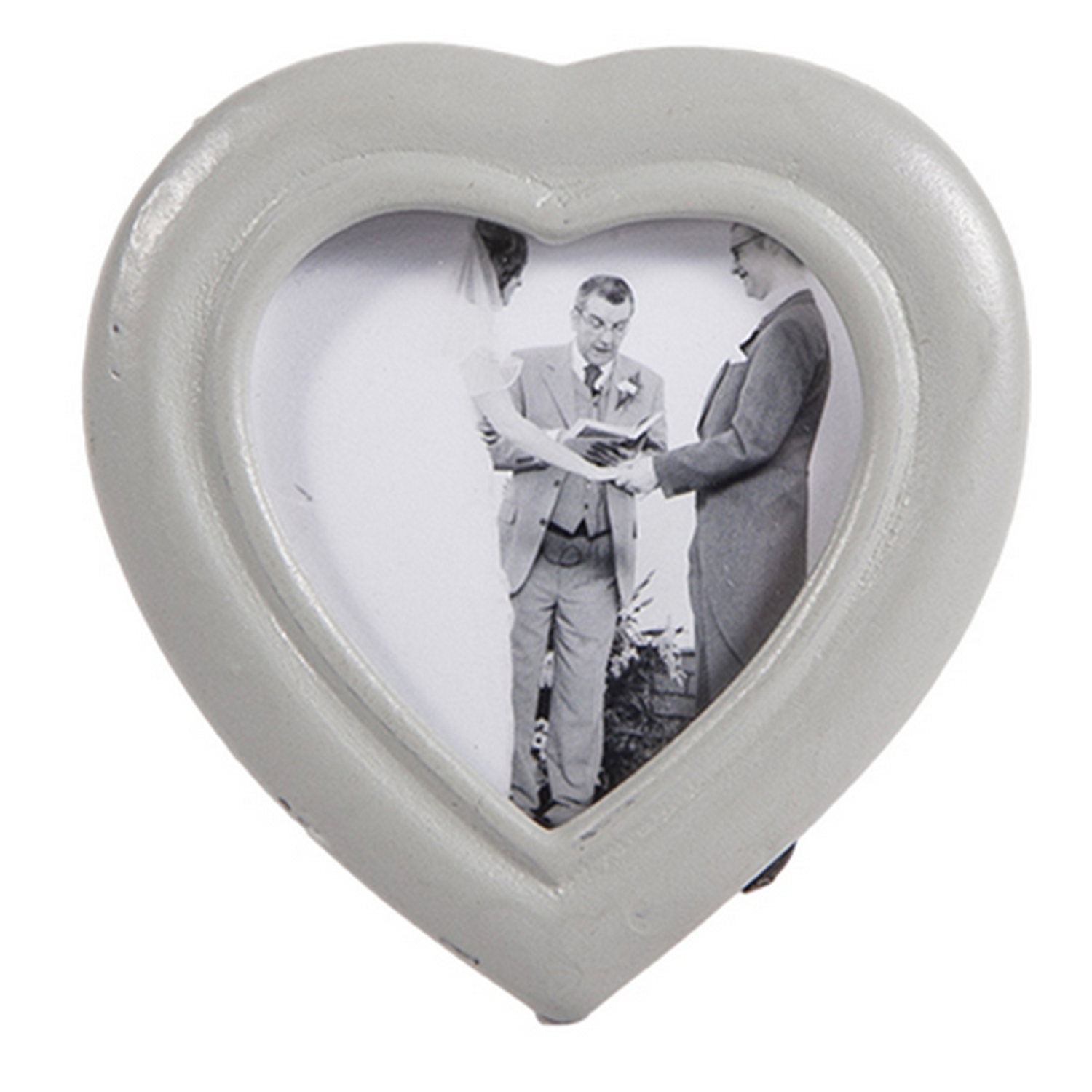 4x Dark Tonal Heart Shaped Photo Holder Napkin Ring