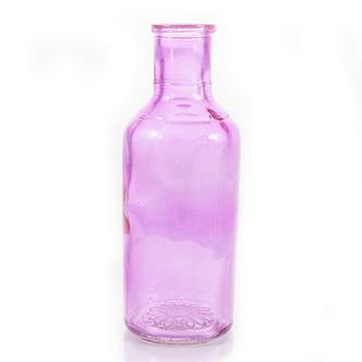 Pink Coloured Glass Posy Bottle Vase