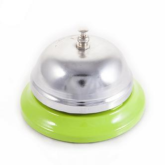 Green Coloured Base Silver Table Bell Boy Service Bell