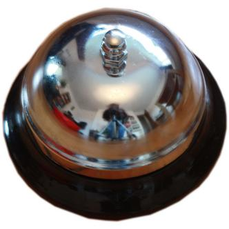 Black Coloured Base Silver Table Bell Boy Service Bell