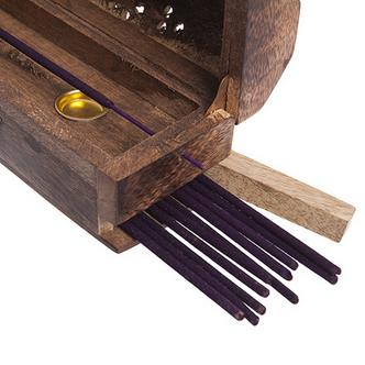 LOTUS Scented Incense Sticks x20 With Wooden Incense Box As Pictured