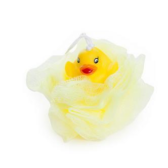 Duck on Yelllow Bath and Shower Sponge (Loofah)
