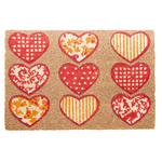 Heart Design Doormat in Red