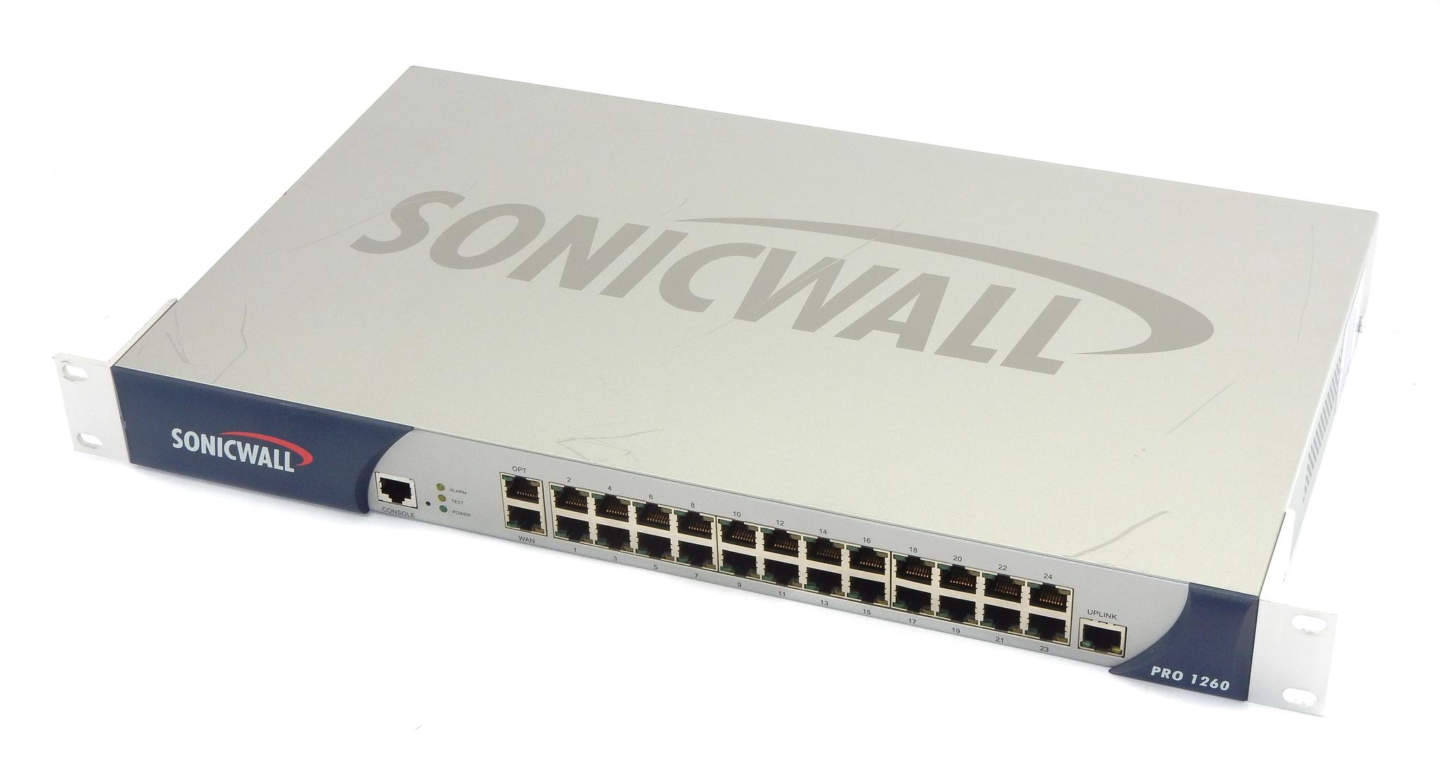 Sonicwall 1RK0C-02F PRO 1260 Enhanced 24-Port Security Appliance