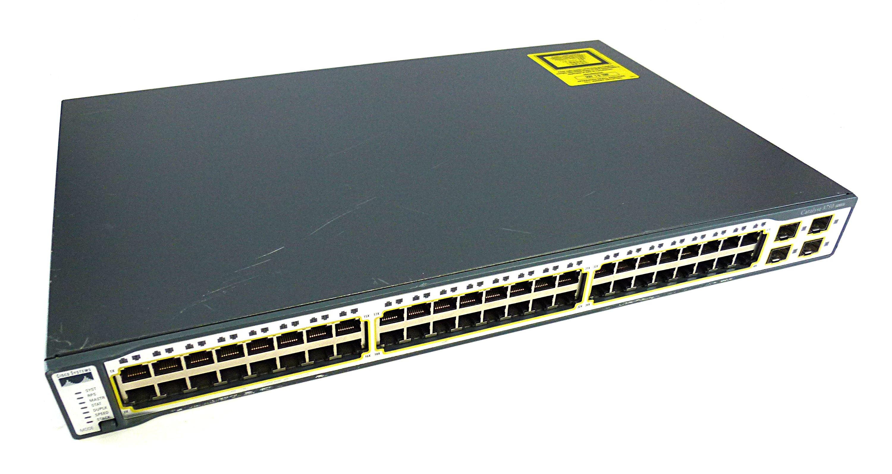 Cisco WS-C3750-48TS-S V05 Catalyst 3750 series IOS 12 2(25)SEE3 48-Port  Switch