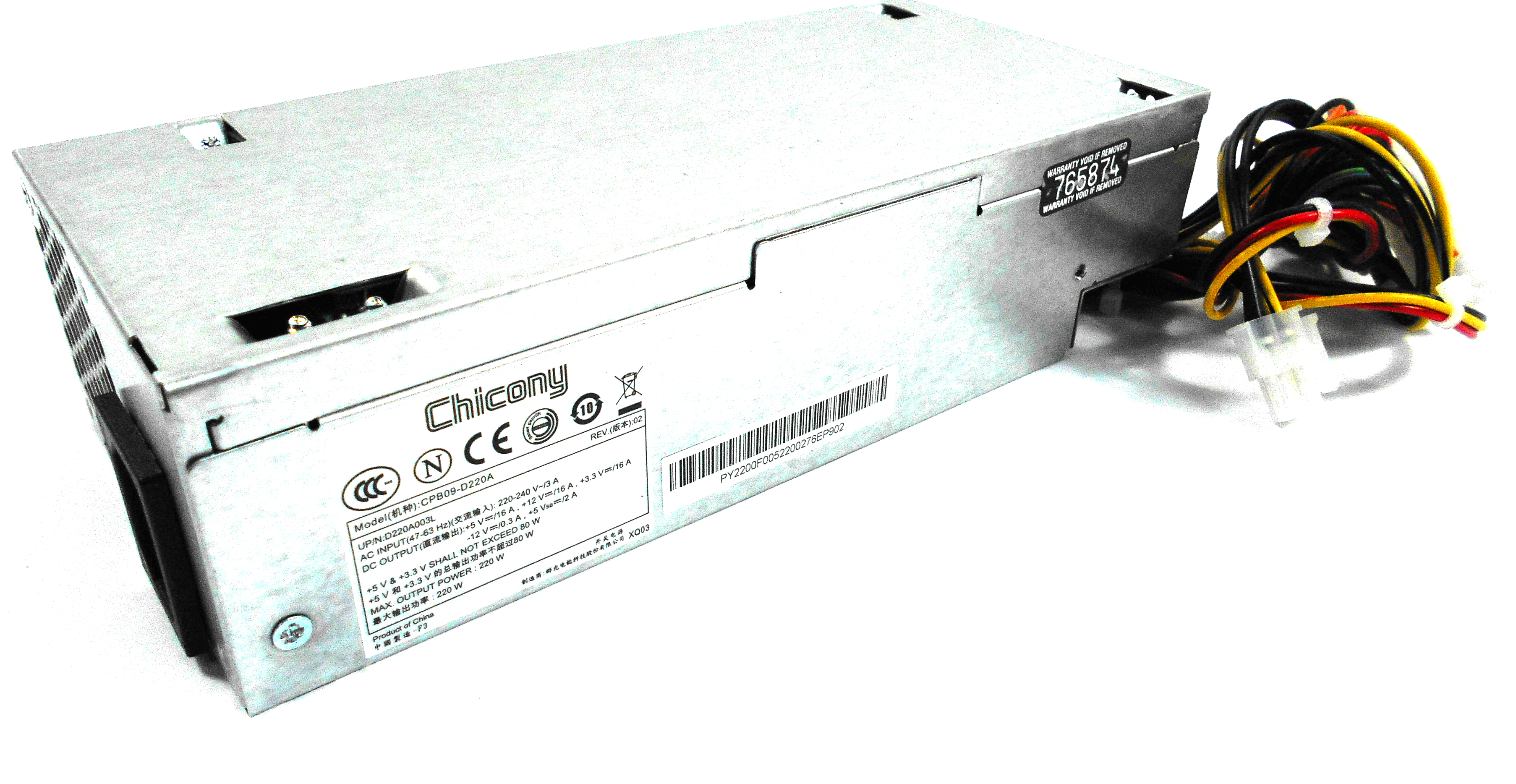 Chicony D220A003L Model:CPB09-D220A 220W Power Supply