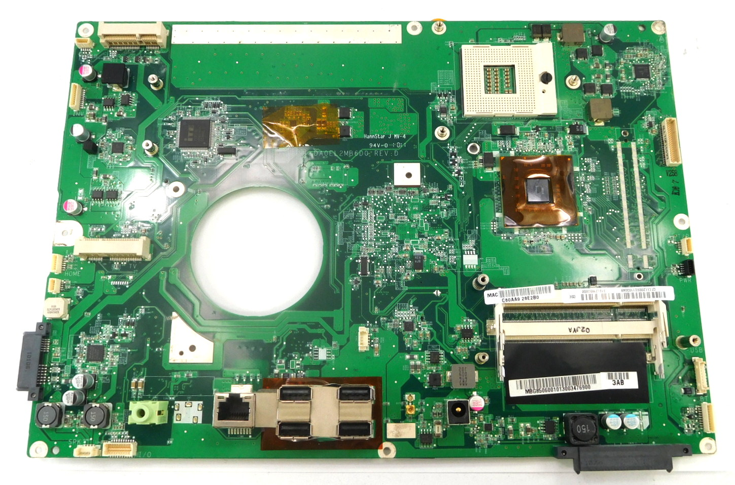 MB.G8506.001 Acer/Packard Bell All In One PC Motherboard DA0EL2MB6D0 Rev.D