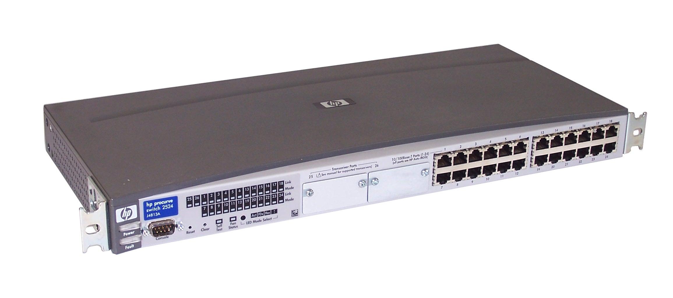 hp j4813a procurve 2524 24 10 100base t port switch with rack mount rh ebay co uk procurve switch 2524 manual hp procurve 2524 manual pdf
