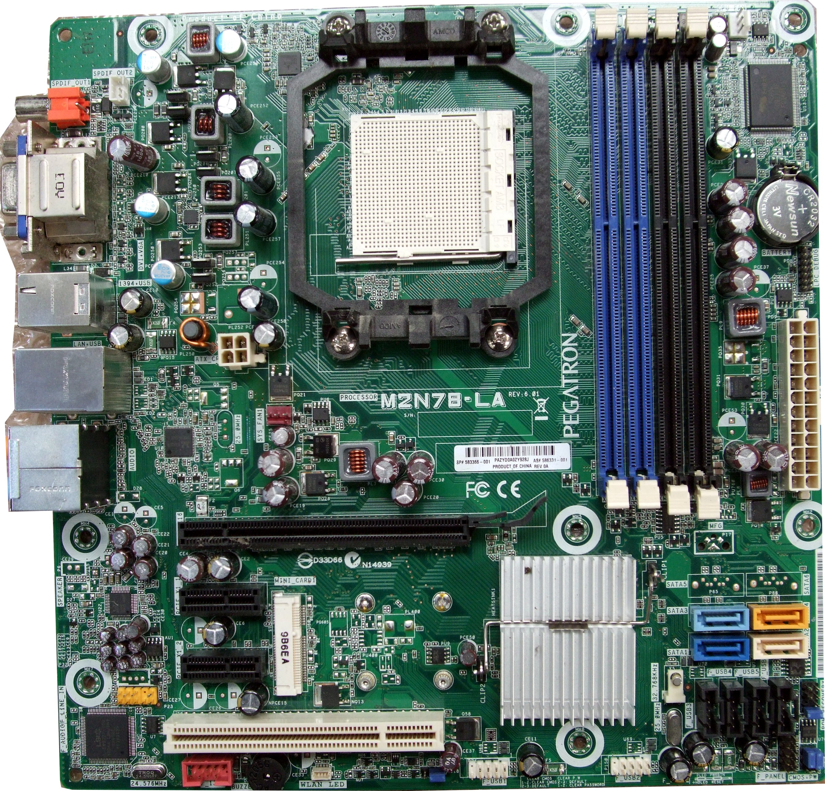 M2N78-LA HP Pegatron Socket AM3 Motherboard - P/N 573400-001