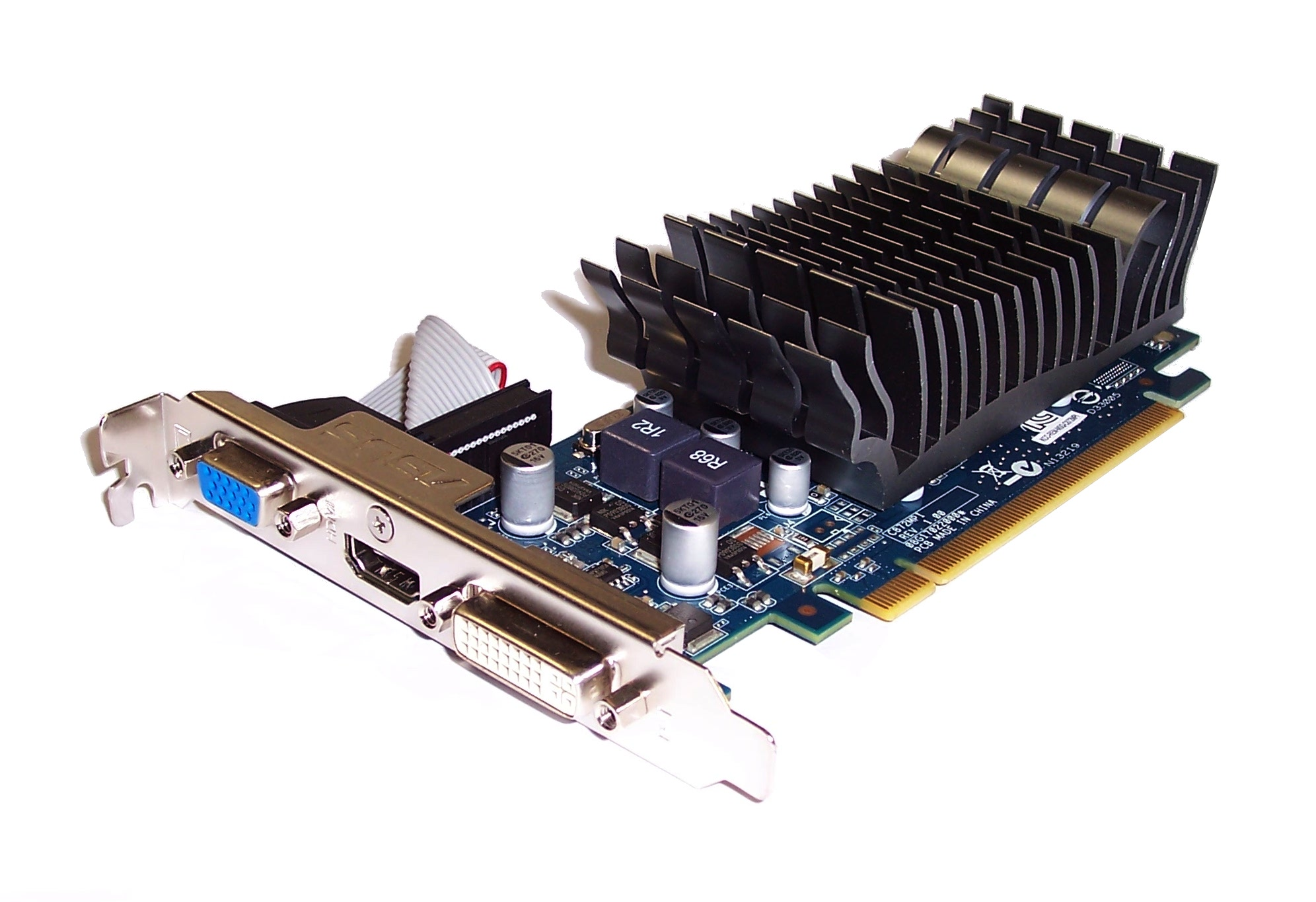 Asus 210-SL-TC1GD3-L GeForce 210 PCIe 1GB DDR3 DVI-I/HDMI/VGA Port Graphics Card