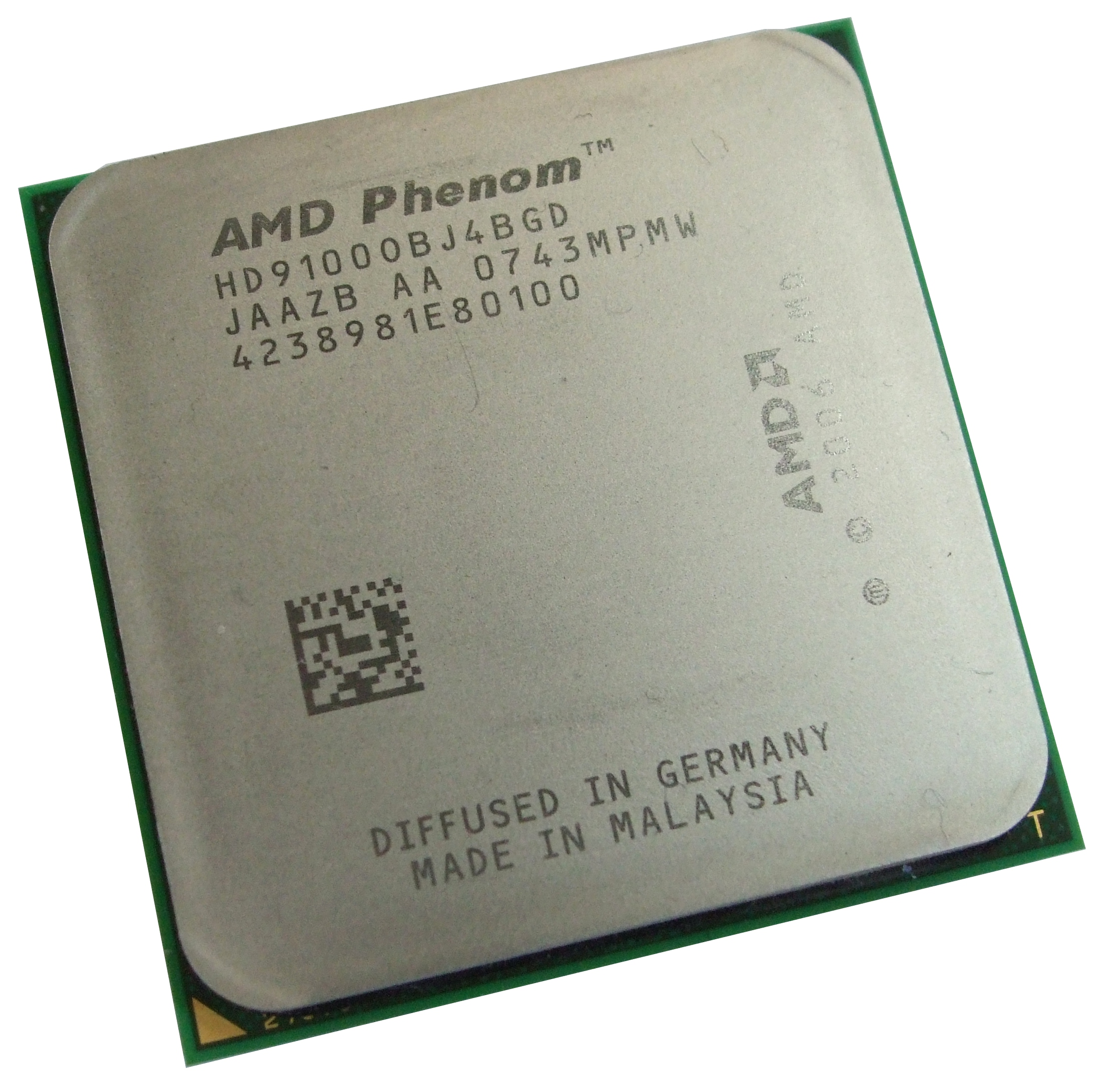 HD9100OBJ4BGD AMD 9100e Phenom X4 1.8GHz Socket AM2+ Processor - Quad Core
