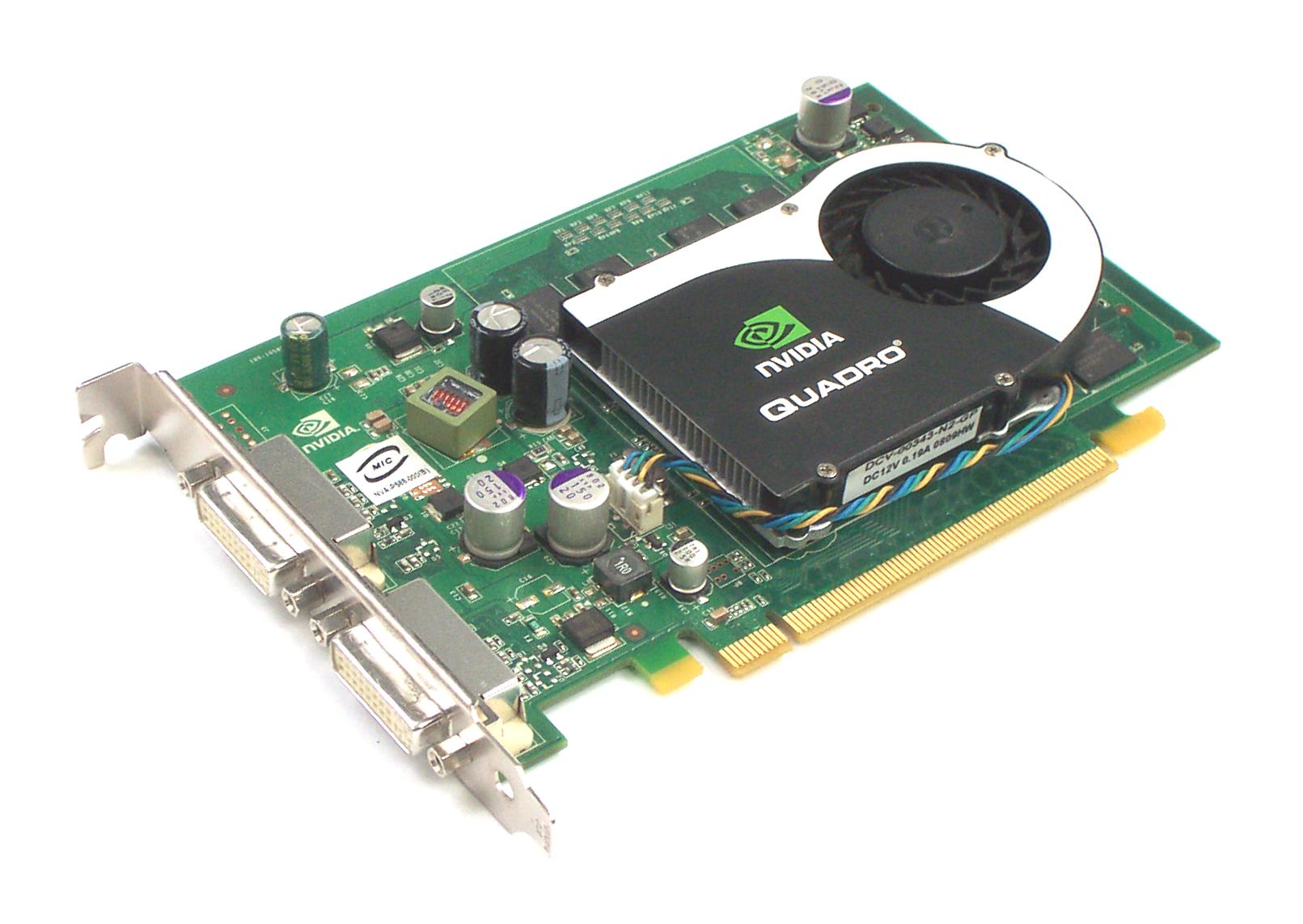 Dell WX397 nVidia Quadro FX 570 256MB PCIe Dual DVI Graphics Card