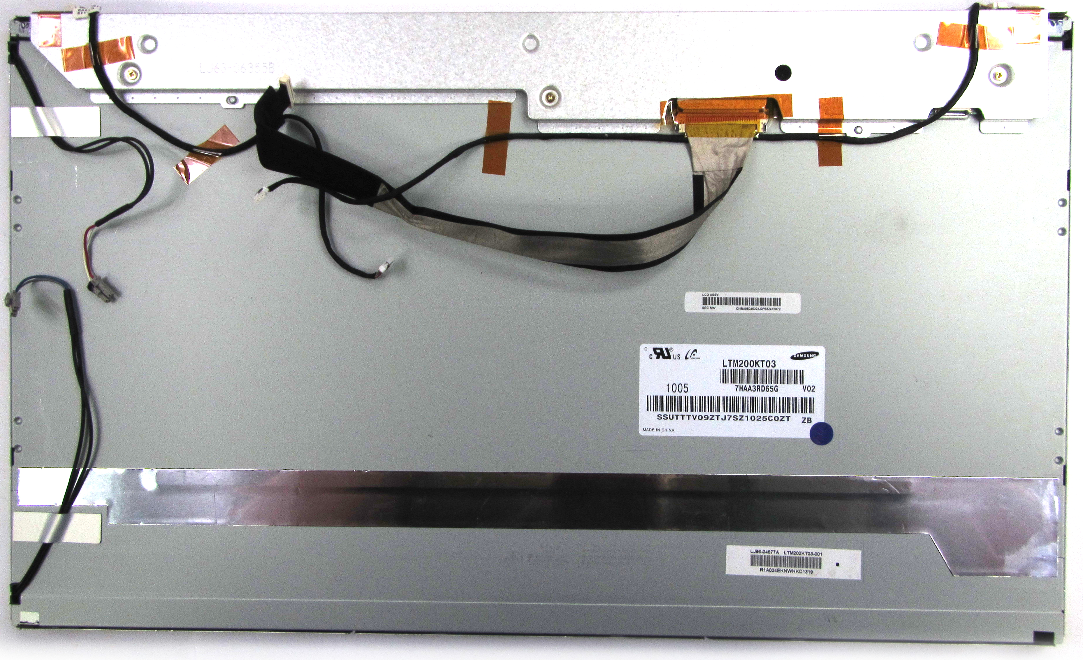"""LTM200KT03 Samsung 20"""" LCD Display Panel w/JXTQ2020010 Touchscreen"""