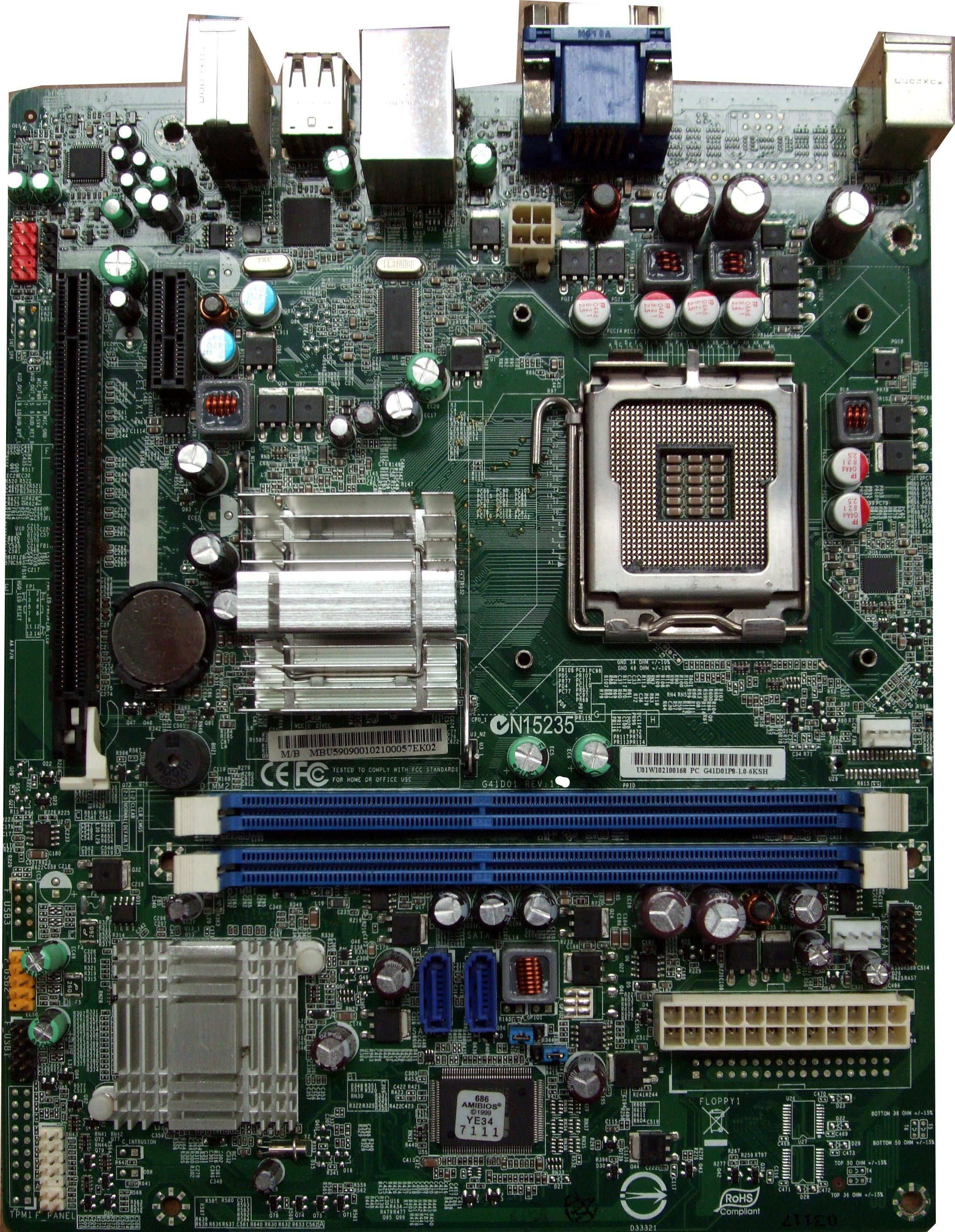 Untested G41D01P8-1.0-6KSH Rev 1.1 Socket 775 System Motherboard MB.U5909.001