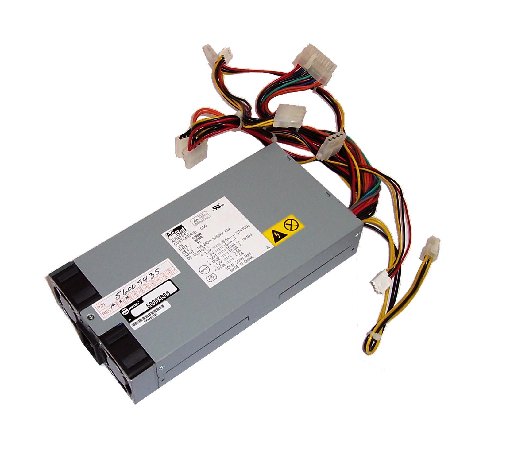 Mitel 50003885 3300 MX CX Controller 250W Power Supply - AcBel