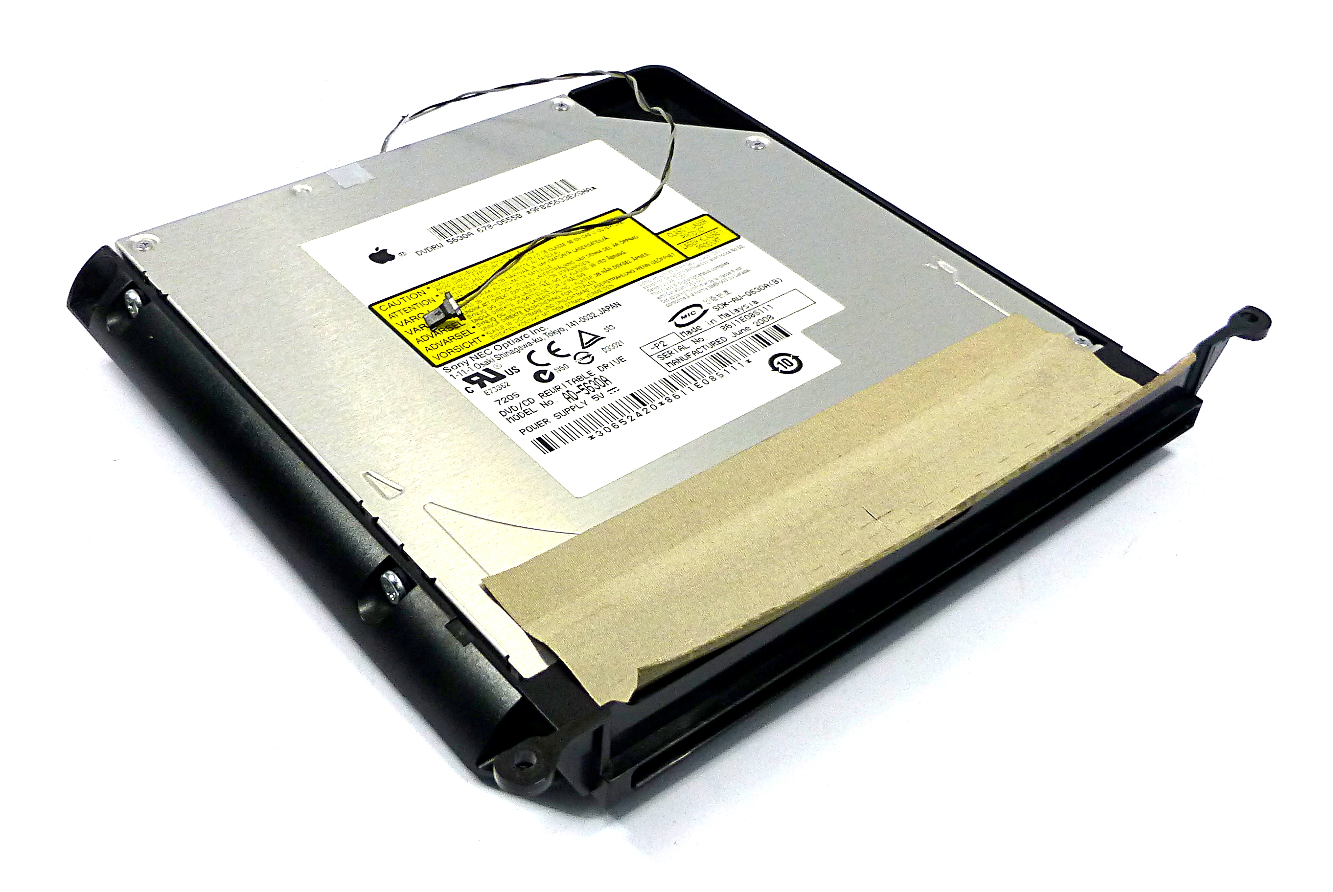 "Apple 678-0555B iMac 24"" A1224 DVD/CD Rewritable Optical Drive - Sony AD-5630A"