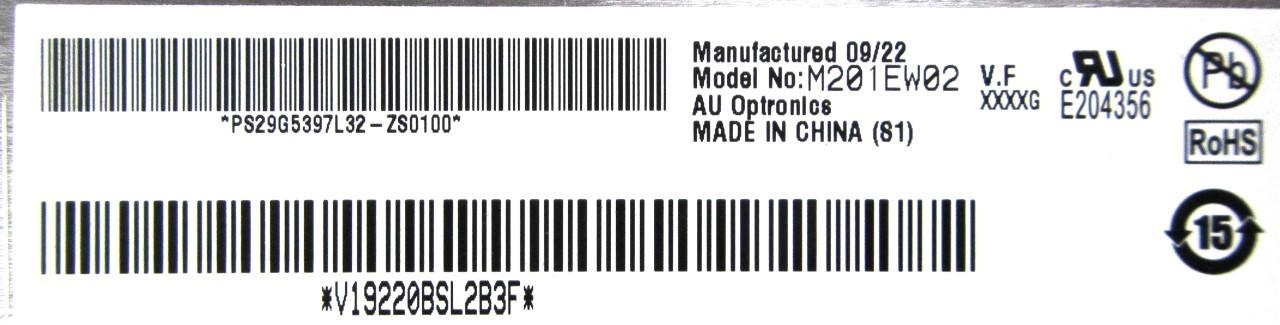"""Apple M201EW02 V.F Optronics 20.1"""" LCD Screen Panel /f iMac 20"""" A1224 EMC:2266"""
