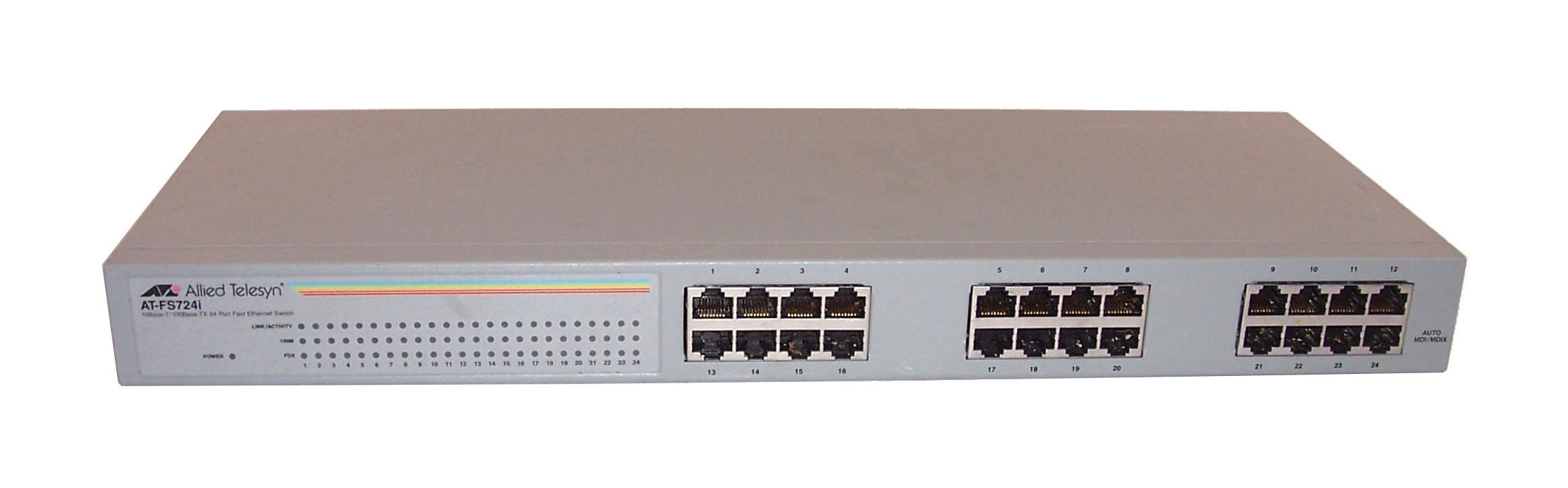 allied telesyn at fs724i 24 port fast ethernet switch no rack mount rh ebay co uk