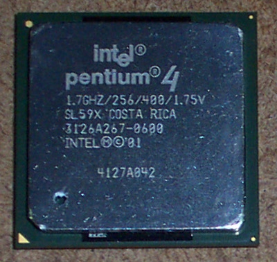 Intel SL59X Pentium 4 1.7GHz 400MHz 256KB Socket 478 Processor