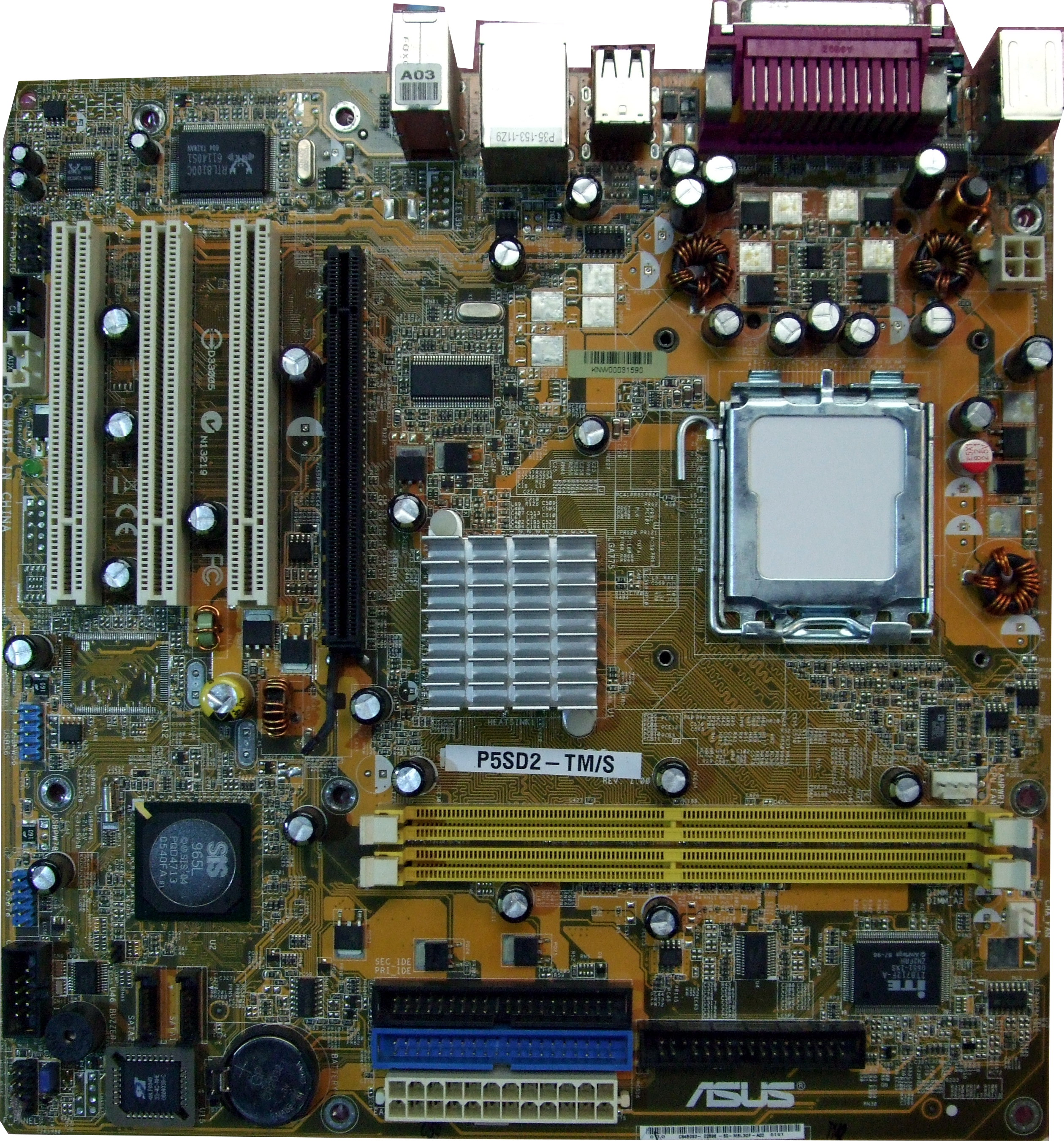 FAULTY P5SD2-TM/S Asus PC Motherboard Intel LGA775 PCIe