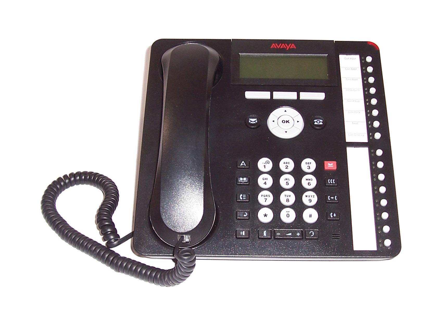 Avaya 700504843 Model: 1616-I 1600 series IP Deskphone- PoE- Black