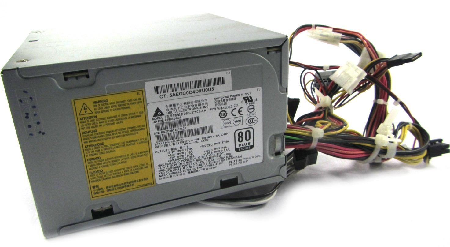 468930-001 HP (Delta DPS-475CB-1 A) Z400 Workstation PSU - SP 480720-001
