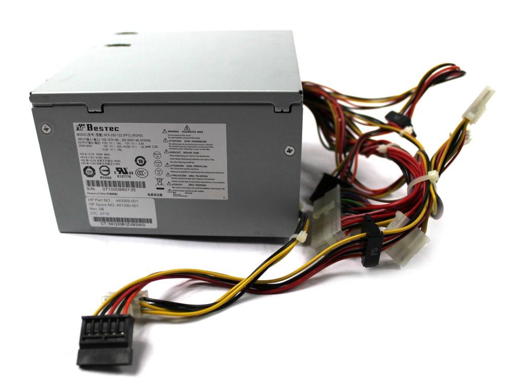 HP 440569-001 250W Power Supply SPS 441390-001 - Bestec ATX-250-12Z ...