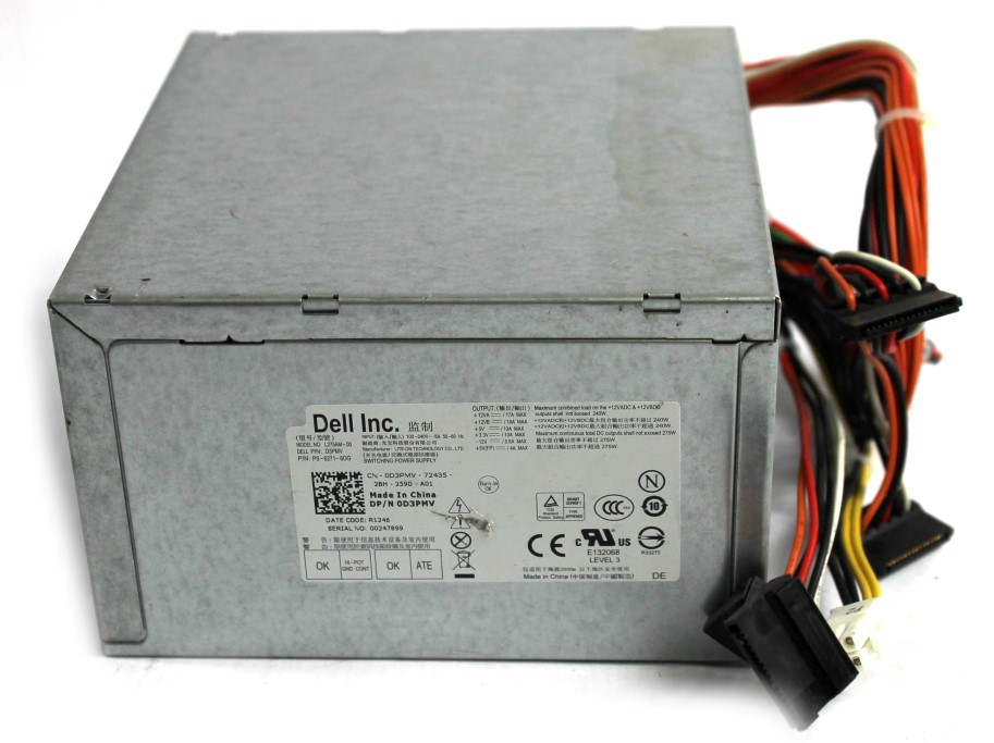 D3PMV Dell 275W 24-Pin PSU Power Supply Unit - L275AM-00
