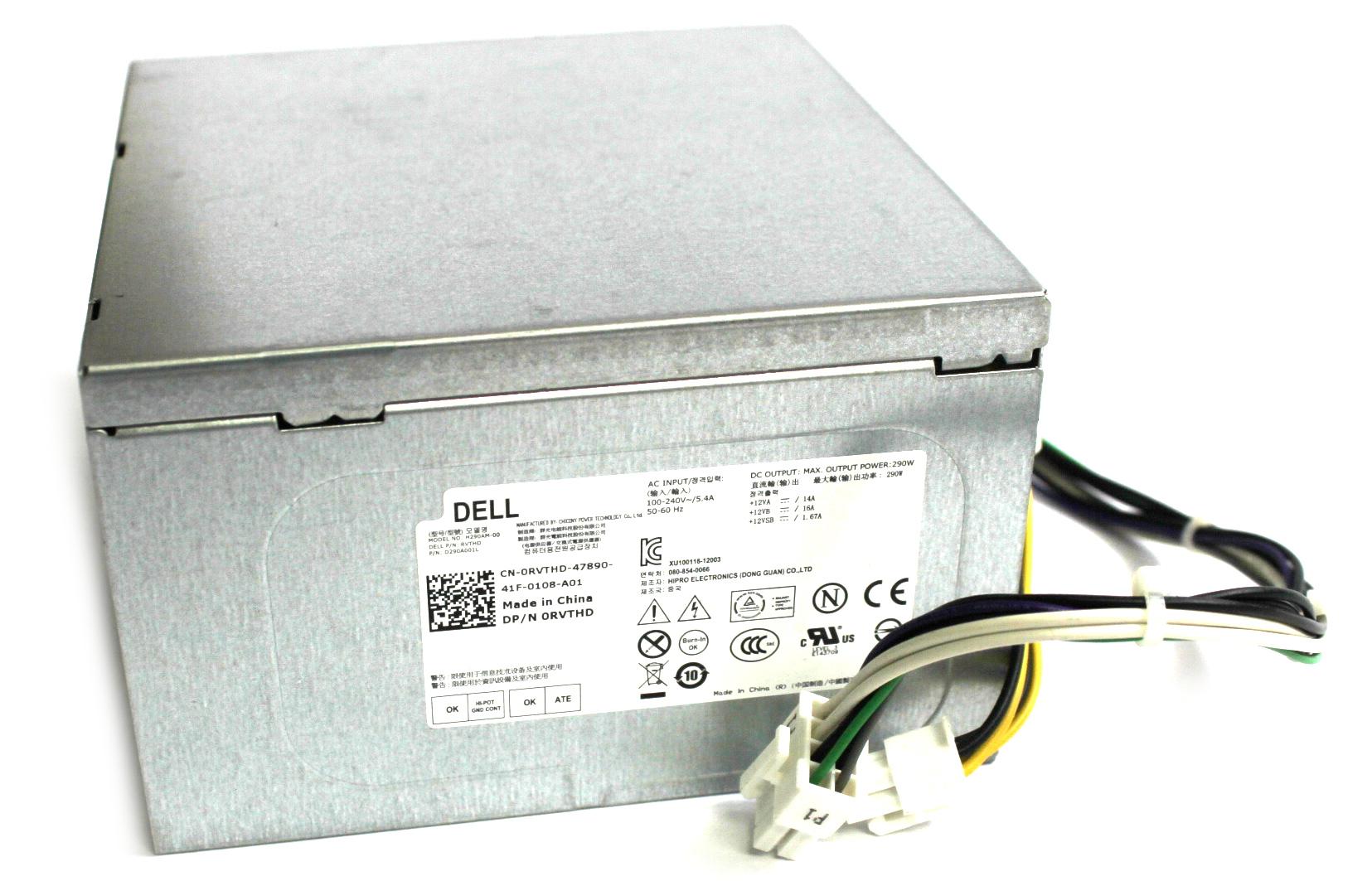 RVTHD Dell 290W 8Pin PSU Power Supply /f OptiPlex 3020 MT Desktop PC