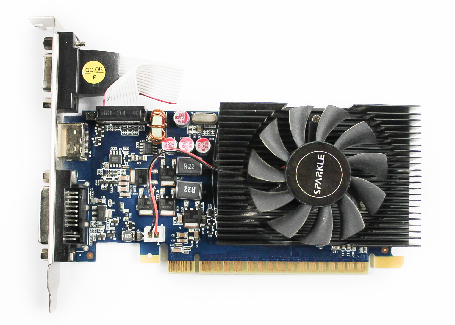 SX640LS2048LCA Sparkle GeForce GT640 2GB DDR3 VGA/HDMI/DVI PCIe Graphic Card