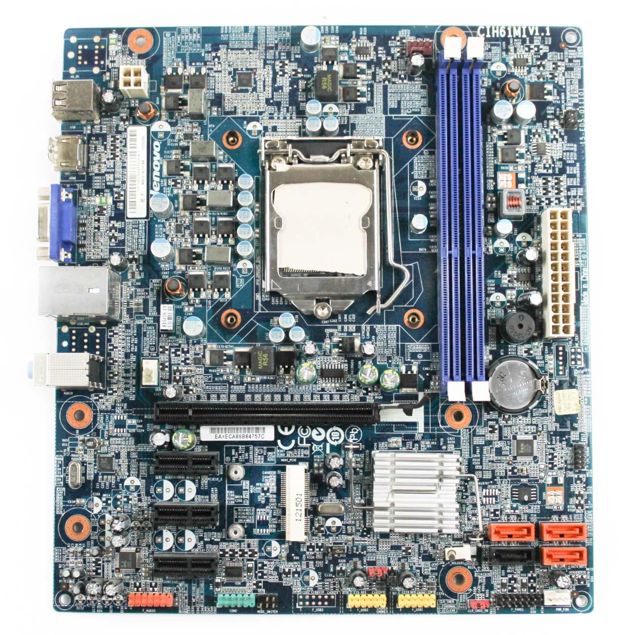 11200369 Lenovo Intel Socket LGA1155 Motherboard - CIH61MI V1.1