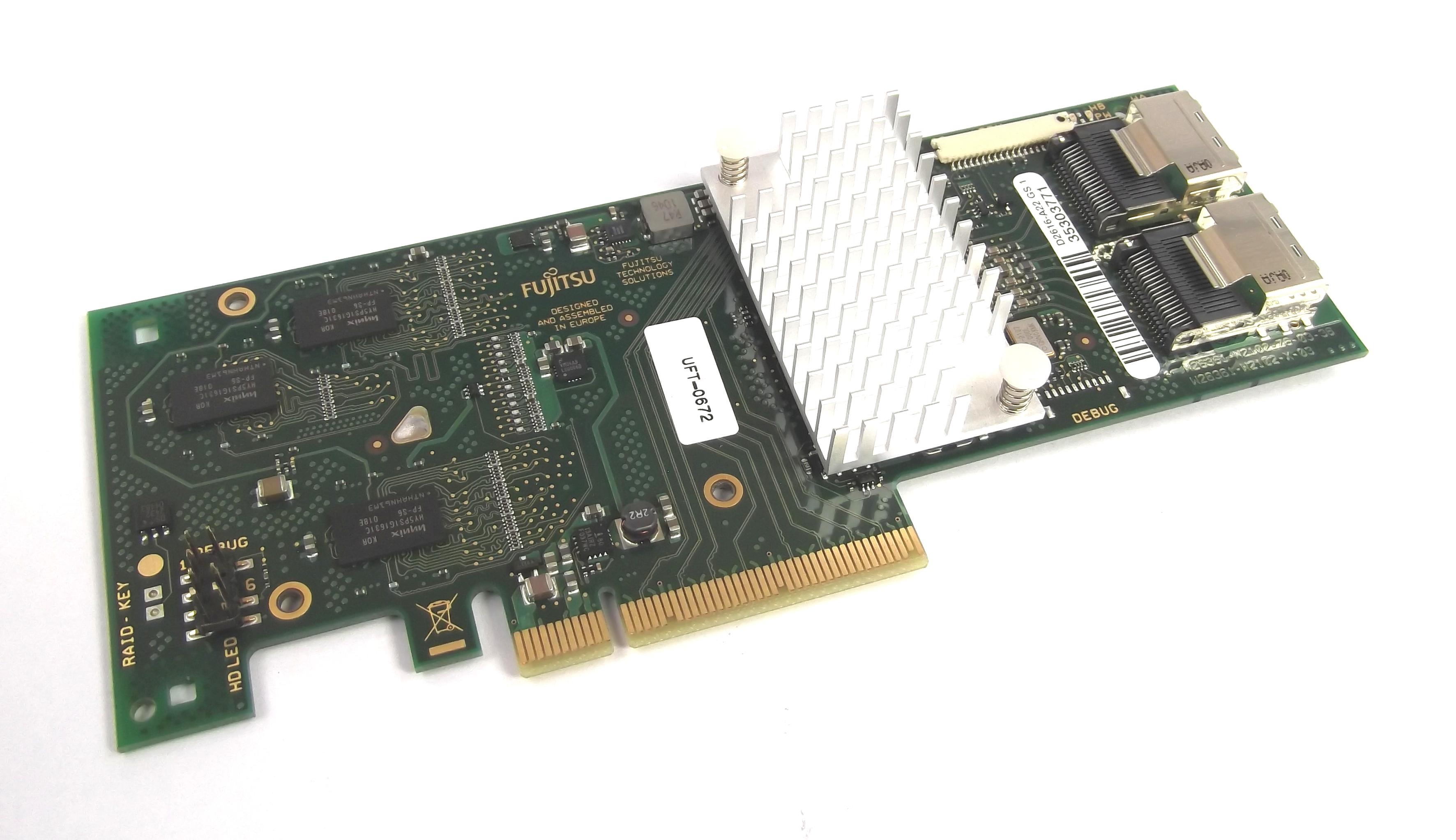 Fujitsu D2616-A22 GS 1 PCIe SAS RAID Controller Card - No Bracket