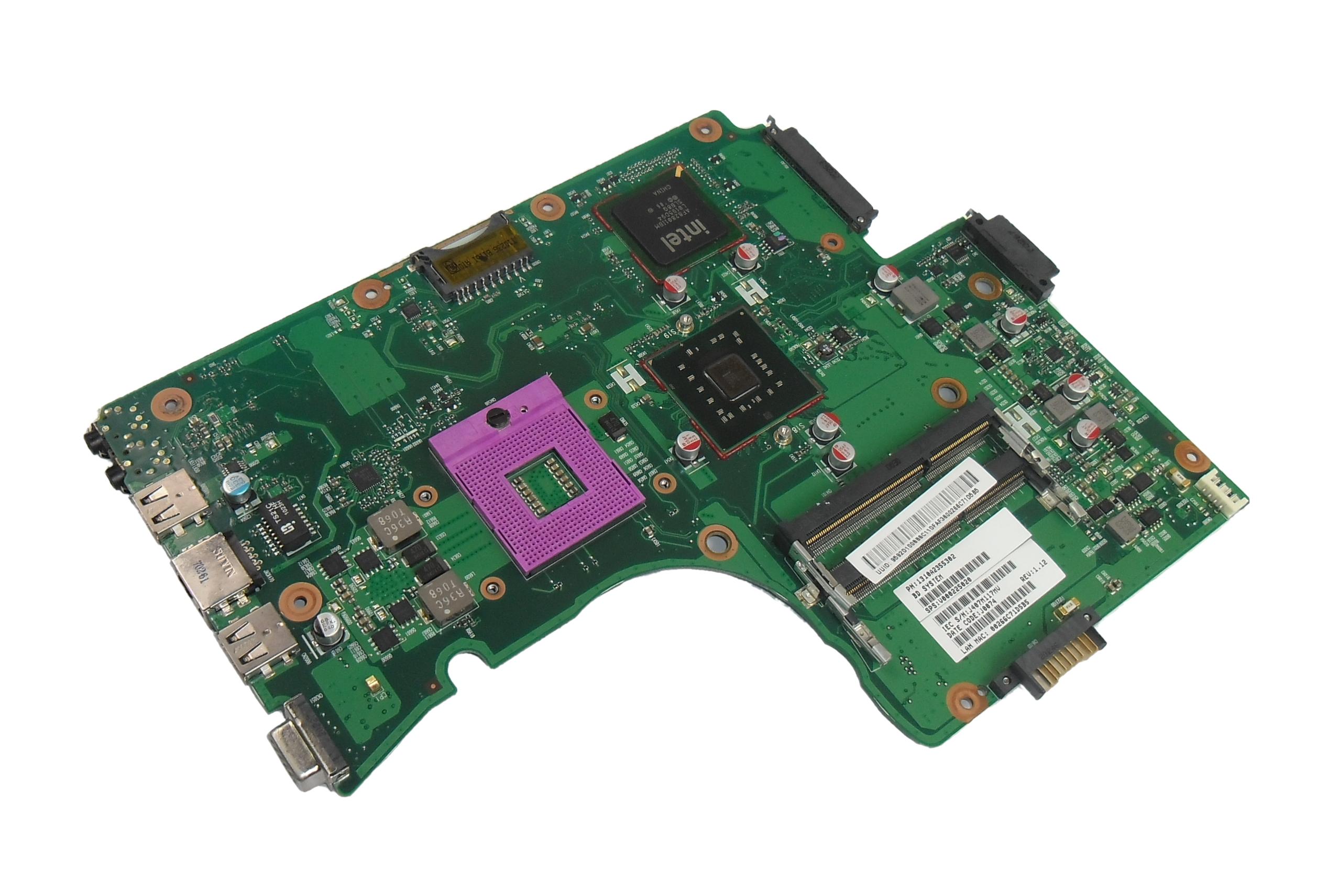 V000225020 Toshiba Satellite C650 Laptop Motherboard / Mainboard - 1310A2355302