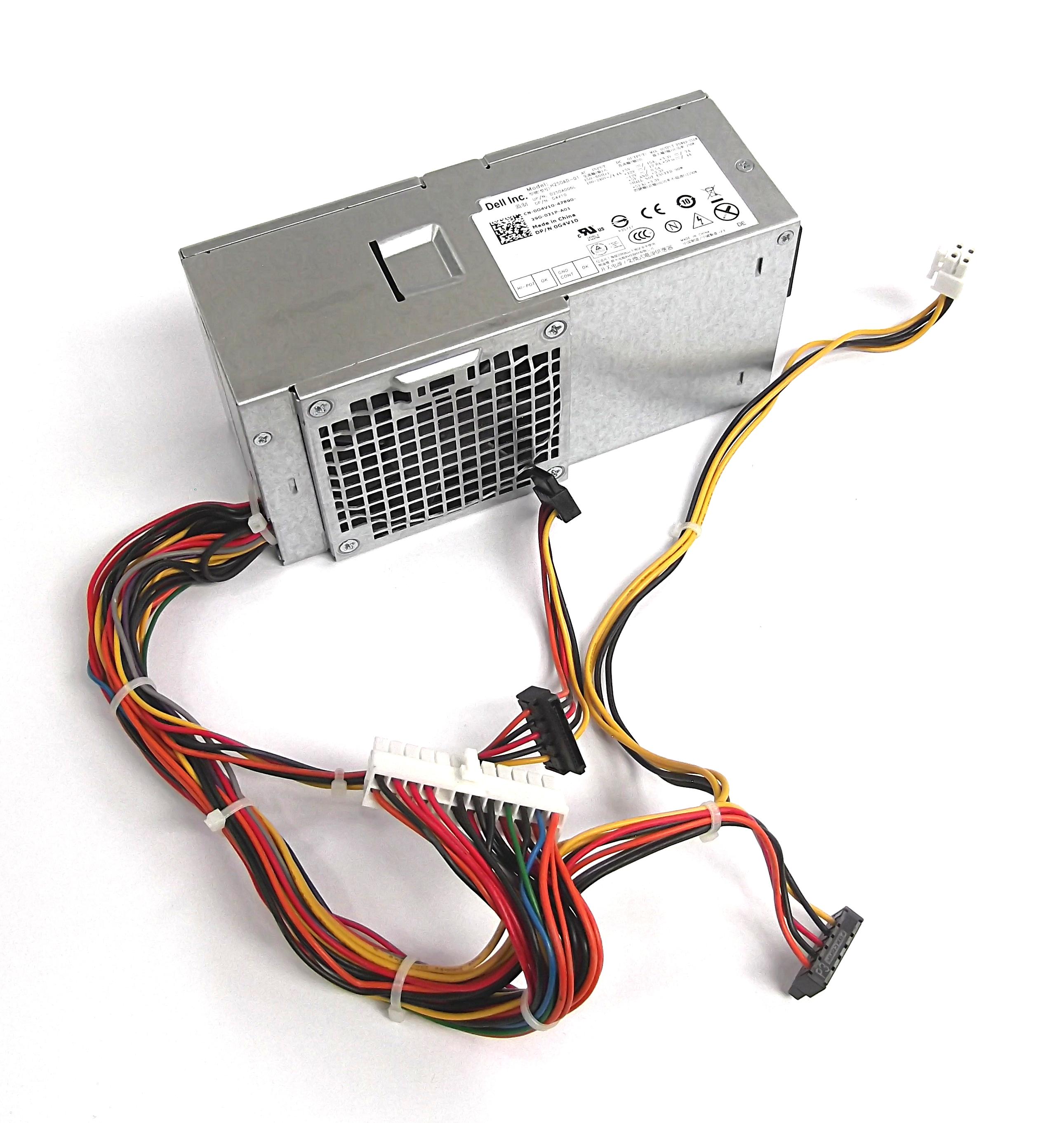 Dell G4V10 Optiplex 3010/7010 SFF 250W Power Supply - H250AD-01