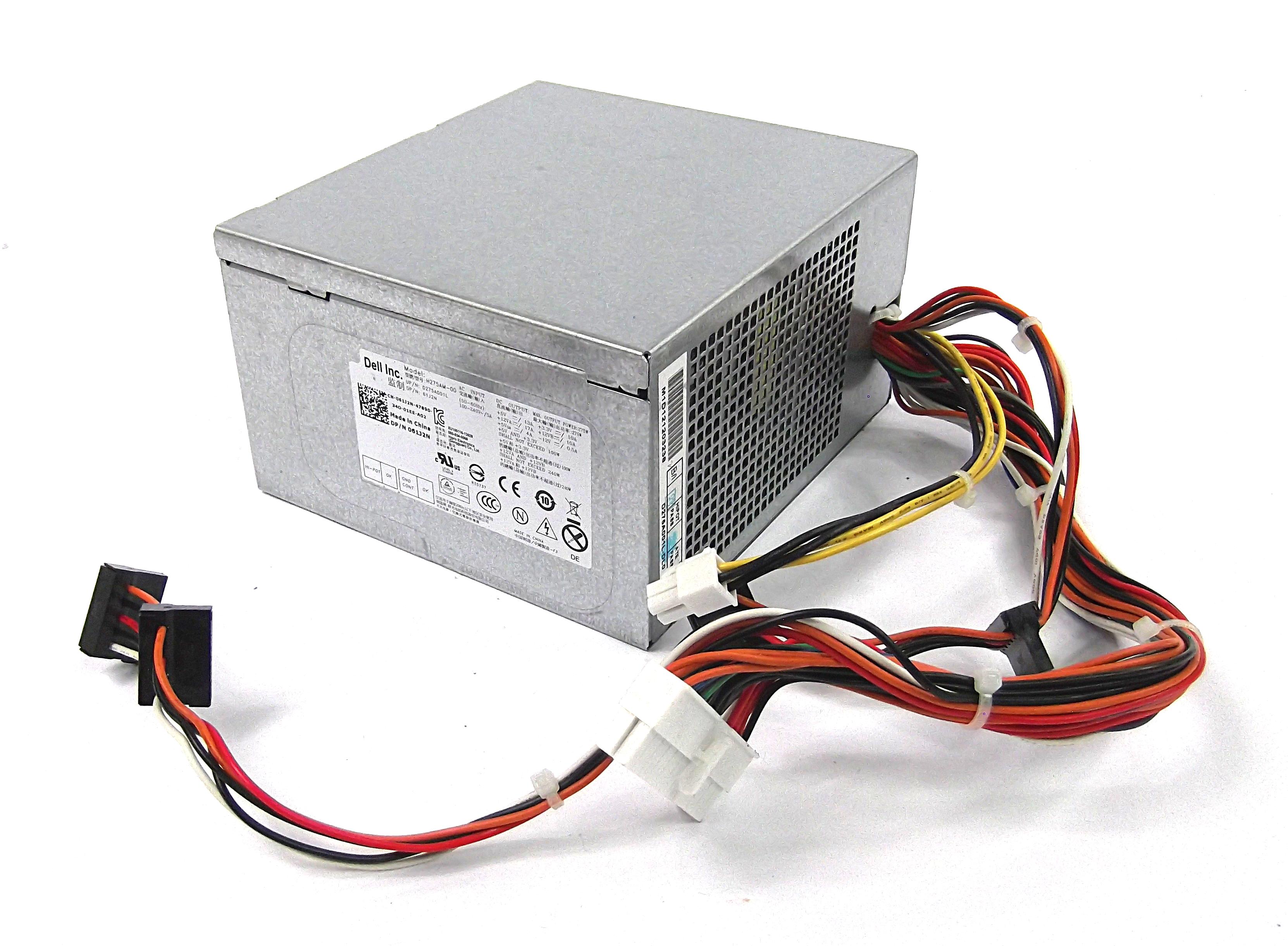 Dell 61J2N Optiplex 7010 MT 275W 24 Pin Power Supply - H275AM-00