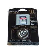 New PNY SD16G10HIGPER80-EF High Performance 16GB Class 10 SDHC Card