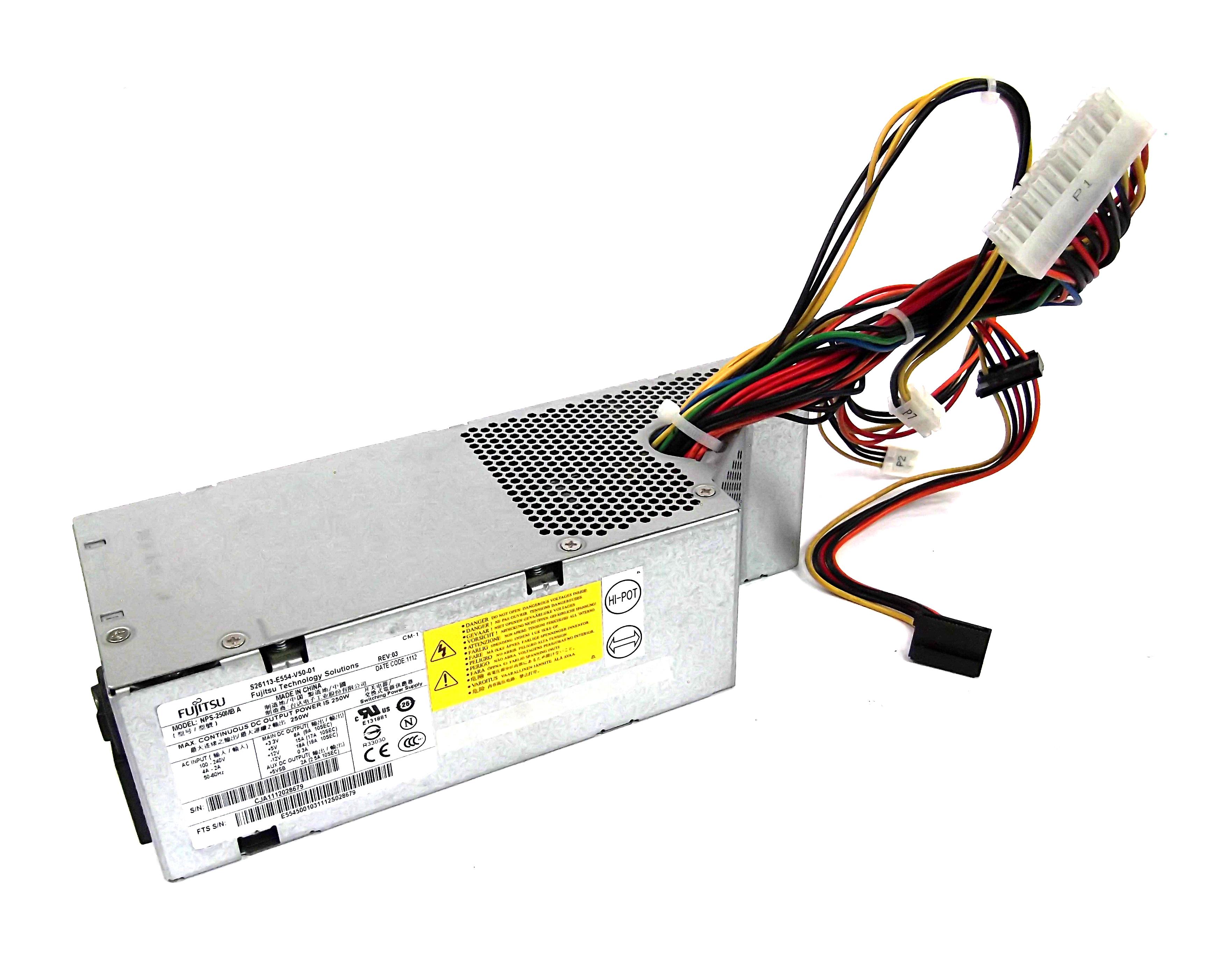 Fujitsu S26113-E554-V50-01 250W 24-Pin Power Supply - NPS-250MB A